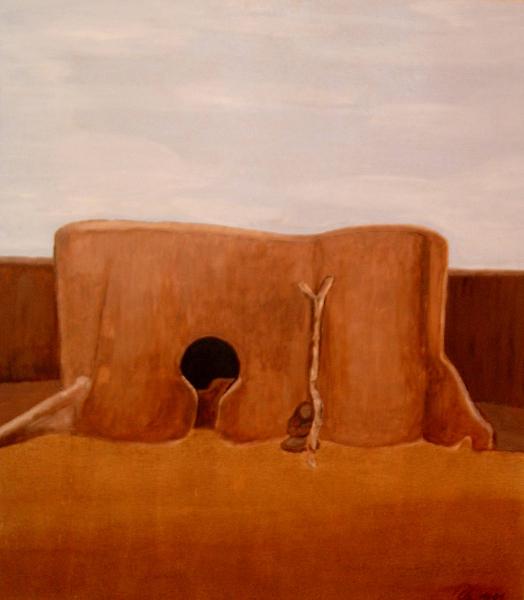 afrikanisches-lehmhaus-51x46-acryl